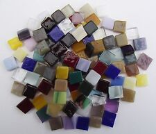YK * 100 * ART GLASS KILN FIRED MOSAIC TILES MIXED COLOURS