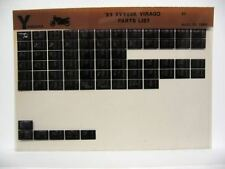 Yamaha XV500 1983 XV500K Parts List Manual Microfiche o35