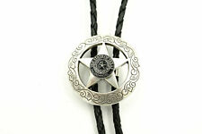 The State of Texas Sheriff Star Western Cowboy Rodeo Bolo Tie