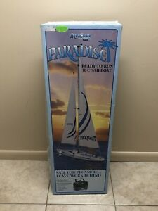 "Aquacraft Paradise Sailboat SX100 RC Model Sail Boat 25.5"""