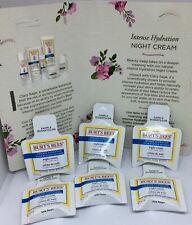 6 X Burt's Bees Defy Dry Skin Intense Hydration Night Cream 6 samples 4.2 g each