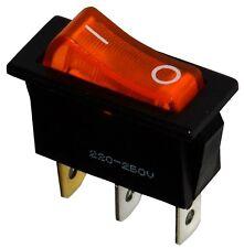 Interrupteur commutateur contacteur bouton à bascule orange SPST ON-OFF 10A/250V
