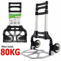 80KG Aluminum Folding Hand Sack Luggage Trolley Industrial Warehouse Boot Cart