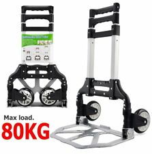 80KG ALUMINIUM SACK TRUCK FOLDING HAND CART WHEEL TROLLEY HEAVY DUTY INDUSTRIAL