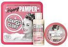 Soap & Glory~Happy Pamper Mini Gift Set Travel Shower Gel & Body Butter NEW
