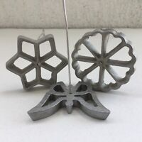 Vintage Metal Aluminum Wire Handle Cake Molds Set Of 3 Shapes