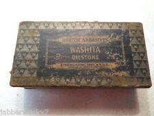 Vintage Norton Abrasives Washita Oilstone WB4 Hone / Sharpening Stone w Box Labl