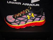 UNDER ARMOUR UA TEAM SPINE VICE MARYLAND BLACK RED YELLOW BASKETBALL SHOES 8.5 !