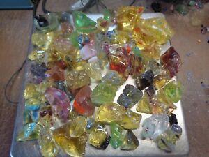 Glass Rock Slag Pretty Multi Colors 5.0 lbs A64 Rocks Landscaping Aquarium