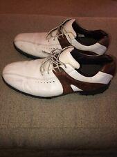 mens footjoy contour golf shoes White/Brown Sz 15