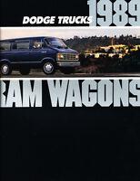 1989 Dodge Ram Wagon Van 10-page Original Car Sales Brochure Catalog