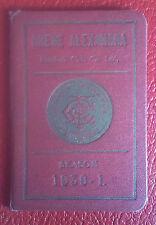 VERY RARE SEASON TICKET BOOK - CREWE ALEXANDRA - 1930- 1931 - ONLY A FEW EXIST