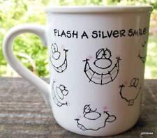 "Vintage Flash a Silver Smile Mug Braces Dentist 3.5"" Hallmark 1985"