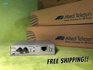 NEW!! Allied Telesyn 100Mbit/s Media converter 100TX to 100FX (MM) AT-MC101XL-20