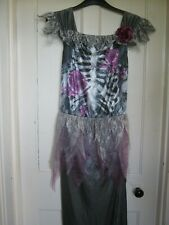 WOMANS HALLOWEEN SKELETON BRIDE COSTUME/FANCYDRESS SIZE 16-18 NEW BNWT
