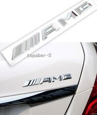 Chrome AMG Emblem Badge Rear Trunk Decal A B C E S CL SL ML CLK CLS SLK