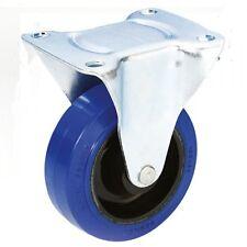 Adam Hall - Roulette fixe en zinc avec bandage bleu - 100 mm