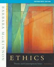 Ethics: Theory and Contemporary Issues by Barbara MacKinnon (2004, Paperback) IE