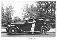 *** Automobile La 6-cylindres U-6 Unic *** 1934 - photo (22 x 15,5) // a260