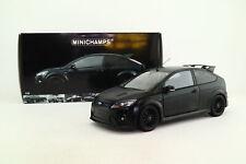 Minichamps 1:18 Scale; 2010 Ford Focus RS500; Matt Black; Excellent Boxed