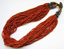 Collier Naga Orange terne Ethnie Nagaland Inde du Nord