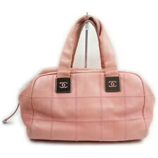 Chanel Hand Bag  Pinks Leather 913862