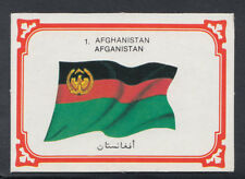 Monty Gum 1980 Flags Cards - Card No 1 - Afghanistan  (T641)