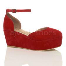 Calzado de mujer zapatos de salón de tacón medio (2,5-7,5 cm) de color principal rojo