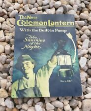 "1920s Coleman Lantern L427 Advertising Ad Reproduction Metal sign 9x12"" 50185"