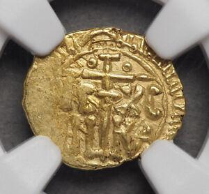 ITALY, Sicily. William I. 1154-1166. Gold Tari, MEC 282, NGC MS62