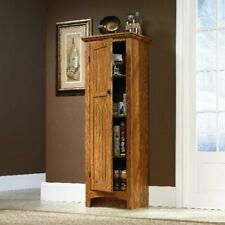 Kitchen Pantry Cabinet Wood Tall Cupboard Free Standing Food Storage Furniture