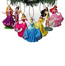 "Authentic Disney princesses 7 Christmas Tree Holiday Ornament PVC Figures 3"" New"