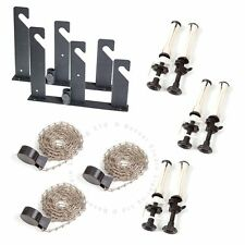 Bessel 3 roll Wall / Ceiling Mount Vinyl Background Support Kit Metal Chain