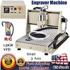 3-AXIS 6040 USB CNC Router Desktop Engraver Engraving Machine 1.5KW & Handwheel