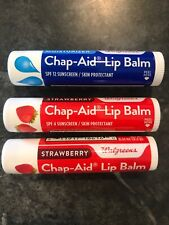 Lot of 3 mixed Chap-Aid Skin Protectant Moisturizer Lip Balm with Spf 15 New