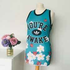 ADIDAS Pharrell Williams VEST Top Size XS GREEN Floral You're Awake Basketball