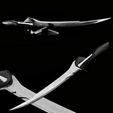 """sword of Alita Battle Angel 37"""" Damascus Etched Stainless Steel Sword & Stand ."""