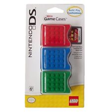 NEW FACTORY SEALED 3 PK OFFICIAL NINTENDO DS LEGO BRICK GAME STORAGE CASES