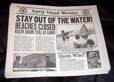 JAWS Newspaper Prop Monster Shark Great White Quint Coastal Amity Island