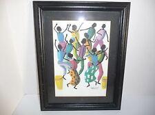 Canute Davis Matted Framed Print Jamaican Dancers