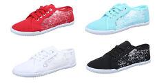 Markenlose Normale-Weite-(E) Damen-Turnschuhe & -Sneakers aus Textil mit Schnürsenkel