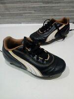 Young Boys Puma Leather Football Boots Size 11 EU 34