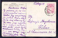 Latvia(Poland), 1929, Art card from Riga to Wilno