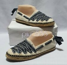TORY BURCH Ribbon Textile Espadrilles Shoes Flats Size 6.5