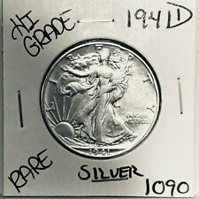 1941 D LIBERTY WALKING SILVER HALF DOLLAR HI GRADE U.S. MINT RARE COIN 1090