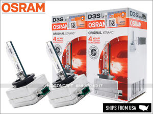 2x New OSRAM Xenarc OEM 4300K D3S HID Xenon Headlight Bulbs 66340 35W GERMANY