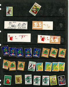 Australia NAPTA TB Cinderella Labels Seals PROOFS & 1948 East Brunswick Kinder