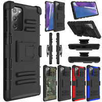 For Samsung Galaxy Note20 Ultra 5G Case Shockproof Belt Clip Holster Stand Cover