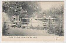 London postcard - Footpath, Willesden (Leading to Kensal Rise)