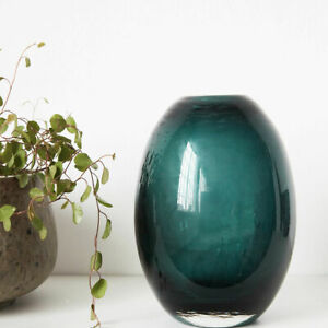 Vase Blumenvase Glasvase 'Ball' grün blau Deko glas Nordic Skandi House Doctor